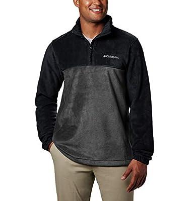 Columbia Men's Steens Mountain Half Zip Fleece, Black/Grill, Small
