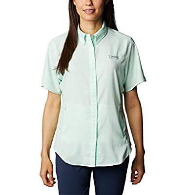 Columbia Women's Tamiami II Short Sleeve Shirt, Light Mint, Large