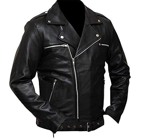Negan Walking S7 Brando Jeffrey Dean Morgan - Chaqueta de motorista para hombre, color negro