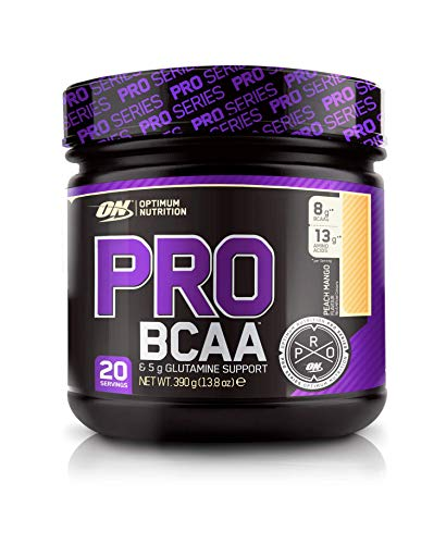 Optimum Nutrition ON PRO BCAA, Amino Acid Powder with Glutamine, Peach Mango, 390 g, 20 Servings