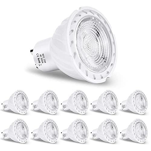 YSSMAO Lampada a LED GU10 Lampada a LED Dimmable 6W LED Beautiful 3000K 500LM Day White 60W Sostituzione per la Stanza di Lampadina alogena Hotel-10pack