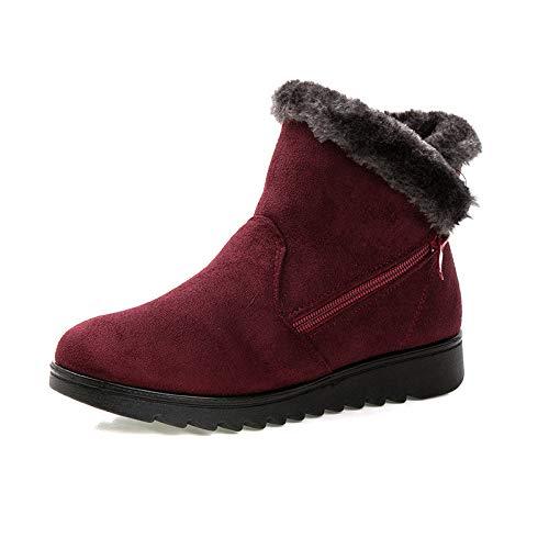 Shukun enkellaarsjes stoffen schoenen dames warm Old Snow Boots grote maat gemiddelde leeftijd