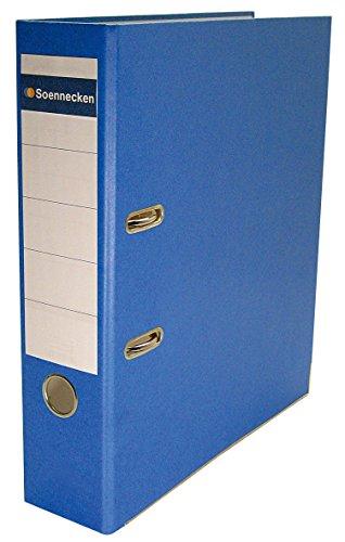 SOE Schlitzordner 3358 A4 80mm breit Papier/Papier Bezug blau