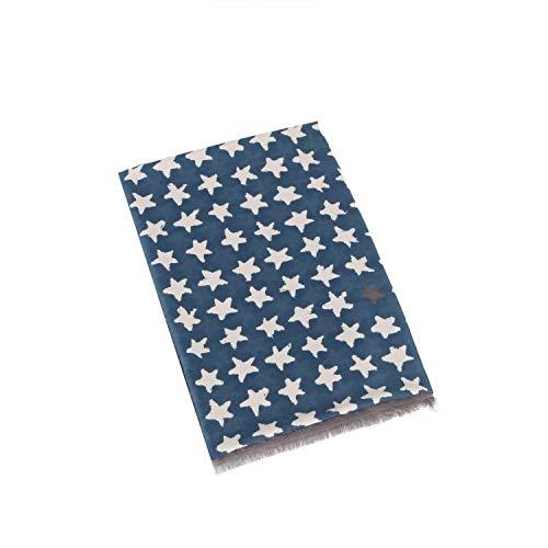 Cotton Star Print Plain Scarf For W…