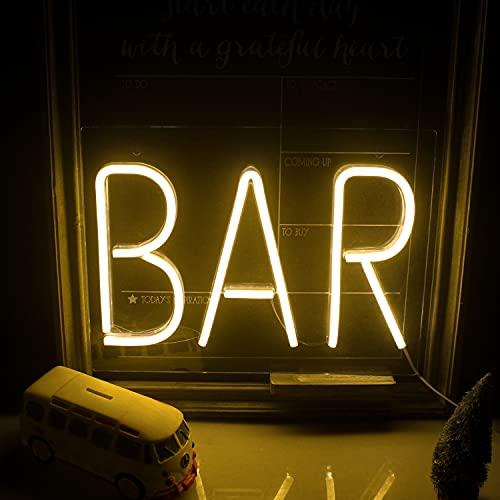 Letrero de neón de barra cálida Letreros de pared de neón LED Luz de neón grande con letras Luz de neón de noche USB para bar Hotel Sala de juegos interior Cóctel Fiesta de cerveza Letrero de boda de