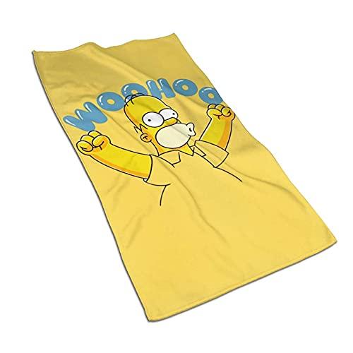 DJNGN Homer Si-m-PS-on Woohoo Toallas de Mano Toalla de baño Absorbente súper Suave Toalla de baño para cocinar Hornear Decoración de Cocina