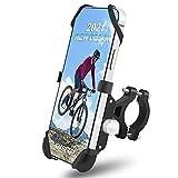 Bicycle Phone Mount,Motorcycle Phone Mount,Bike Cell Phone Holder 2 Straps, EUPRECI Aluminum Alloy 360° Bike Phone Mount Holder for Bike Handlebar Fits iPhone 7/8/XS /11/12 Pro Max Samsung 4'-7' Phone