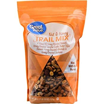 Great Value Trail Mix Nut & Honey 26 oz Naturally Delicious and a Popular Snack
