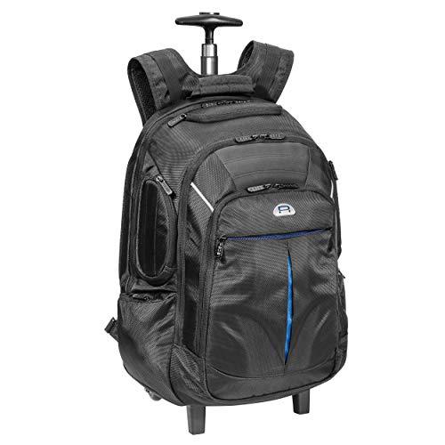 """PEDEA Business Rucksack-Trolley \""""Premium\"""" Laptop-Rucksack bis 17,3 Zoll (43,9 cm) mit Übernachtungsfach und Rollen, schwarz"""