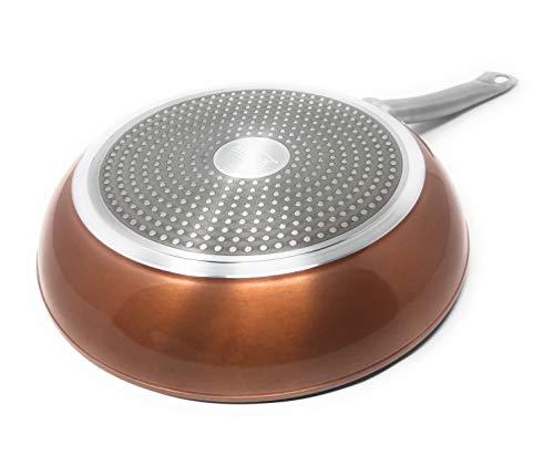 Royal Chef - Professionele Aluminium Koekenpan - Premium Nonstick Coating - Hoge Kwaliteit - Ø 18 cm - Metallic Koper