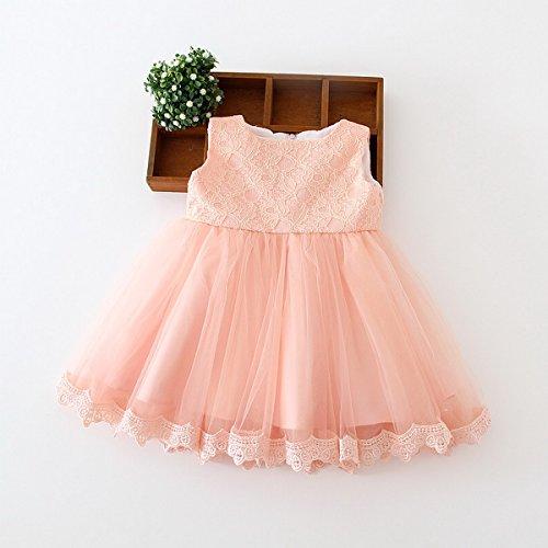 Happy Cherry Bebés Niñas Vestido de Tutú Princesa Traje de Fiesta Formal Elegante para Boda Cumpleaños Festividades 3 Tallas a Elegir