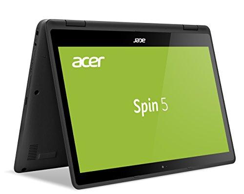 Acer Spin 5 (SP513-51-51D9) 33,8 cm (13,3 Zoll Full-HD IPS) Convertible Laptop (Intel Core i5-7200U, 8 GB RAM, 256 GB SSD, Intel HD, USB 3.0, HDMI, MicroSD, Win 10) schwarz