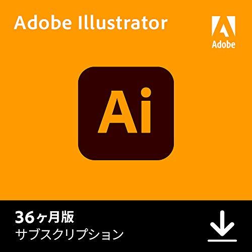 Adobe Illustrator|36か月版|Windows/Mac/iPad対応|オンラインコード版(Amazon.co.jp限定)