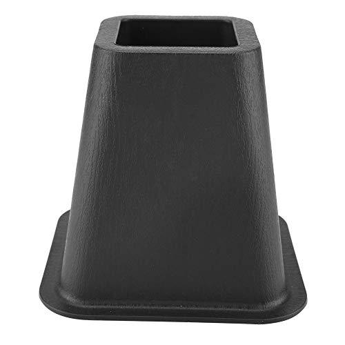 Cocoarm 4-Teiligen Schwarze Möbelerhöhung, Verstellbare Elephant Feet Möbelaufsteller - Bettaufsteller Tischaufsteller Stuhlaufsteller oder Sofaaufsteller Laden Sie 500 kg