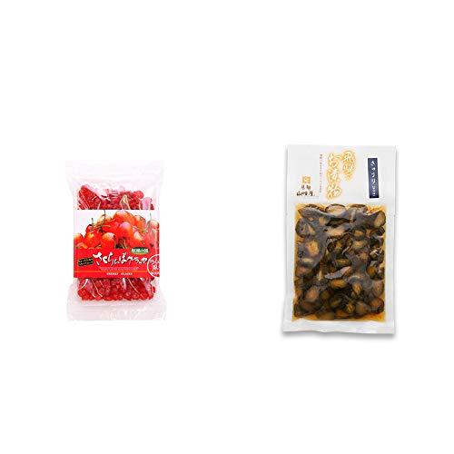 [2点セット] 収穫の朝 さくらんぼグラッセ ラム酒風味(180g)・飛騨山味屋 きゅうり醤油漬(150g)