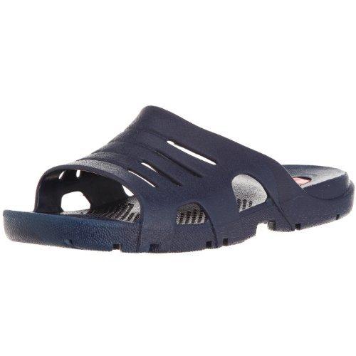 OKABASHI Men's Eurosport Slide Sandals (Navy, L) | Flip Flop Slides w/Arch Support | Versatile Muscle Recovery & Shower Shoe