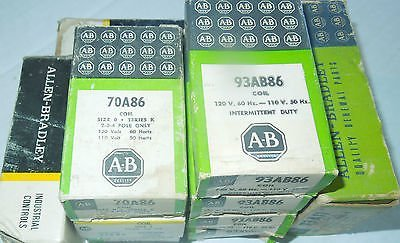 Lot of 10, Allen Bradley, Coils, 5 different coil numbers, all NIB