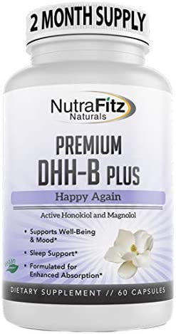 DHH B Supplement Bioactive Honokiol Magnolia bark Extract for Stress Anxiety Depression Relief product image