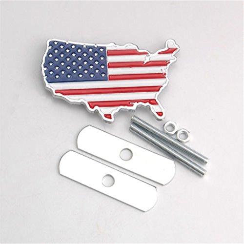 Emblème drapeau USA pour calandre