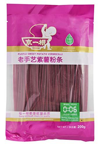 yoaxia ® Marke - [ 200g ] JingYiGen Violett Süßkartoffel-Vermicelli / Kartoffelstärke-Nudeln