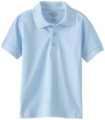 Dickies boys Short Sleeve Pique Polo, Light Blue, Large 7