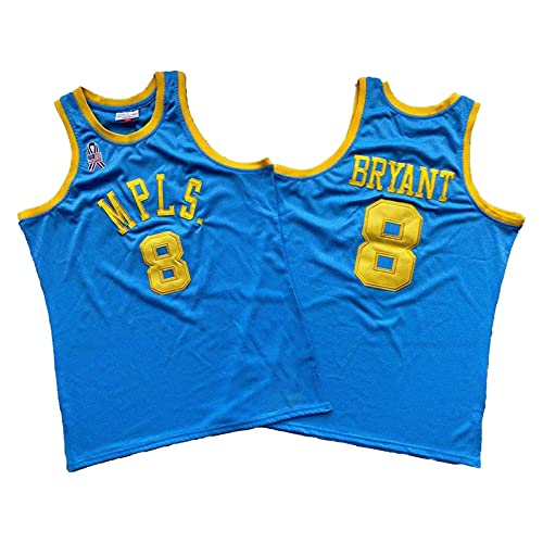 QJL Jerseys de Baloncesto de Kobe para Hombres, MPLS Kobe CLÁSICOS AUTÉNTICA AUTÉNTICA - Versión Bordada (S-XXL) XXL