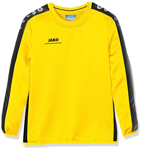 JAKO Kinder Sweatshirt Sweat Striker,citro/schwarz,152 (11-12 Jahre)