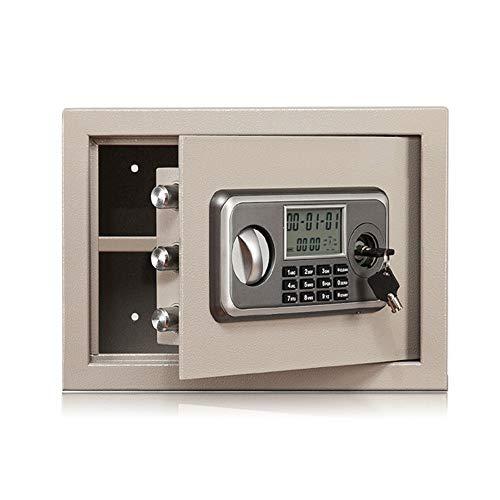 Brandvrije kluis Electronic Stalen kluis met toetsenbord, 2 Manual Override sleutels te beveiligen Geld, sieraden, paspoorten for Home Veilig thuis (Color : As picture, Size : 35x25x25cm)