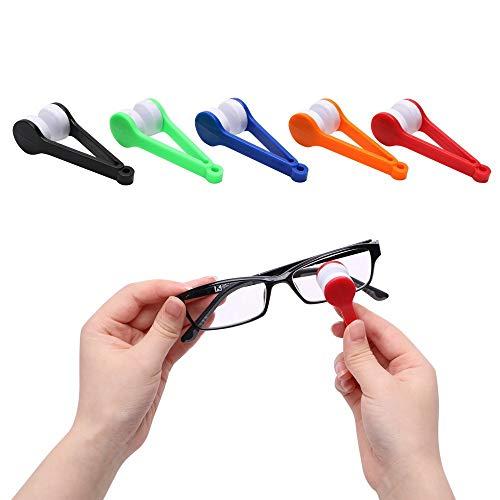 NOLOGO KYT-My Mini Mikrofaser Soft-Brille-Reinigungsbürste Sun-Glas-Reiniger Tragbare Sun Brillen Wiper-Reinigungs-Tools (Farbe : Gelb)
