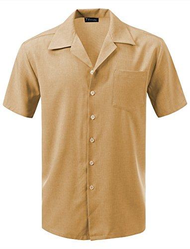 Photo of 7 Encounter Men's Camp Dress Shirt – Yellow – XXL