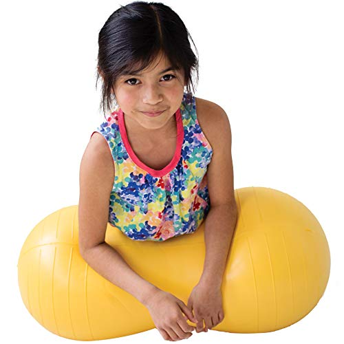 Fun and Function Peanut Ball for Kids, Yellow Medium 15.5'H 30'L,...
