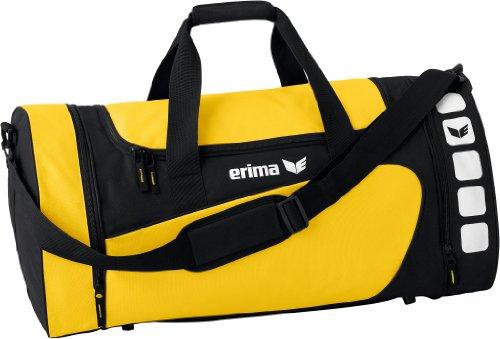 Erima CLUB 5 Sporttasche, Gelb/schwarz, M
