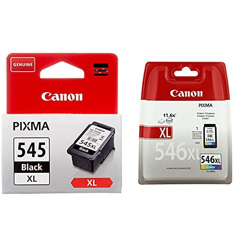 Canon Pg-545Xl Cartucho De Tinta Original Negro XL para Impresora De Inyeccion De Tinta Pixma + Cl-546Xl Cartucho Tinta Original Tricolor XL para Impresora Inyeccion Tinta Pixma