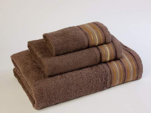 Natural Ana Juego de toallas baño, Algodón, Chocolate, 30x50, 50x90, 100x140