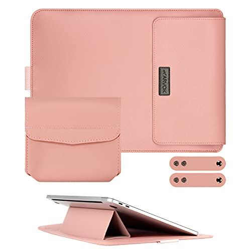 ARVOK Custodia per laptop da 13,3 pollici con supporto per laptop regolabile, custodia ultra sottile/ custodia per tablet in pelle PU / custodia per Acer / Asus / Dell / Lenovo