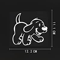WZJH 12。2CMX11.1CMキッズベビー動物犬ビニール車のステッカーブラック/シルバー (Color Name : Silver)