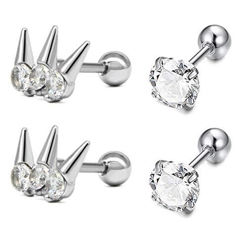 AVYRING dames heren tragus piercing 16G chirurgisch staal Helix Rook Daith piercing oorsteker tragus stud oorpiercing sieraad