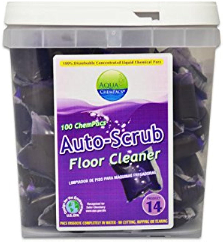 Aqua ChemPacs AQ267 Simoniz Auto-Scrub Floor Cleaner, 1 x 100 Tub (Pack of 100)