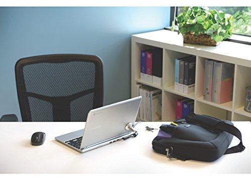 Kensington 64020 MicroSaver-Laptopschloss mit karbongehärtetem (schnittfestem Stahlkabel und T-Bar-Schließmechanismus, 1,8m) & Sicherheitssteckplatz-Adapter für Ultrabooks und Tablets, K-Slot-Adapter