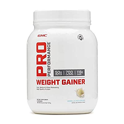 GNC Pro Performance Weight Gainer - Vanilla Ice Cream, 6 Servings, Protein to Increase Mass
