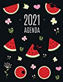 Sandía Agenda 2021: Planificador Diaria | Ideal Para la Escuela, el Estudio y la Oficina | Enero a Diciembre 2021