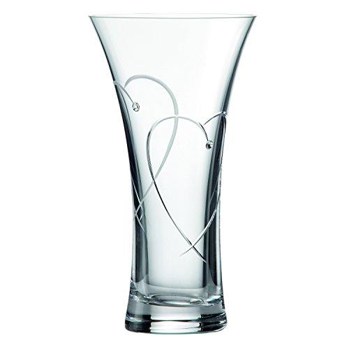 22 cm twee harten vervlogen vaas