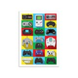 WALL EDITIONS Art-Poster - Legendary Controllers - Olivier Bourdereau - Format : 50 x 70...