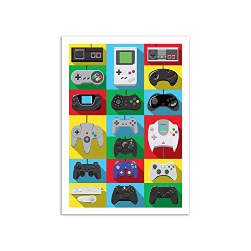 WALL EDITIONS Art-Poster - Legendary Controllers - Olivier Bourdereau - Format : 50 x 70 cm
