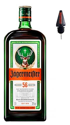 Jägermeister 1,0 Liter incl.Ausgießer PiHaMi®Gastro