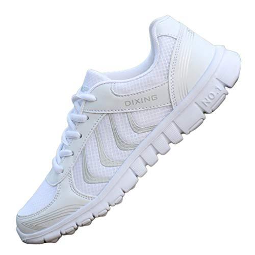 Zapatillas de Malla Transpirables con Cordones para Mujer Zapatillas Ligeras para Correr al Aire Libre Comodidad Informal Zapatillas de Deporte de Colores Mezclados Atletismo