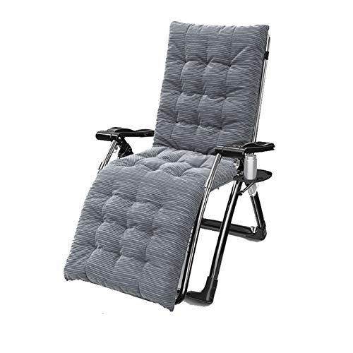 AHXF Zero Gravity Chair Padded Folding Outdoor Reclining Chair Patio Chair Lounge Chair Chaise Folding Lawn Lounge Chairs Sunbathing Chair for Beach,with Cup Holder & Side Table (Color : Style-6)