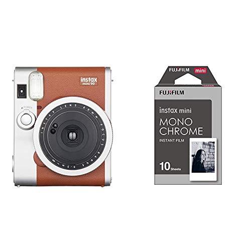 Fujifilm Instax Mini 90 Neo Classic + m Instax Mini Monochrome - Película Instantánea