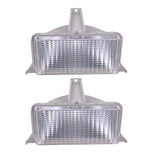 Aftermarket Replacement Set Park Signal Front Marker Lights Compatible with 1983-1988 Blazer Jimmy Suburban 915908