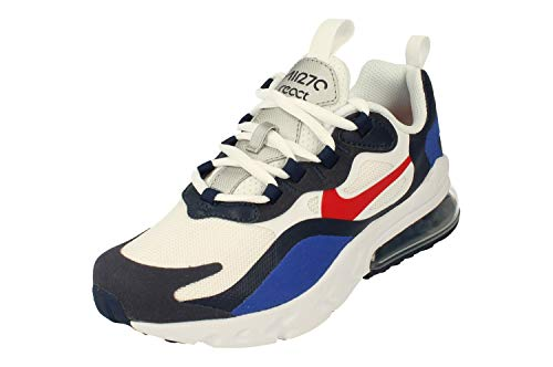 Nike Air MAX 270 React GS Running Trainers CZ5582 Sneakers Zapatos (UK 5.5 us 6Y EU 38.5, White University Red 100)